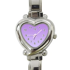 Lavender To Pale Lavender Gradient Heart Italian Charm Watch