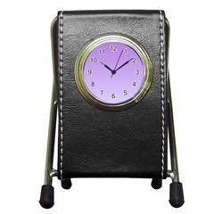 Lavender To Pale Lavender Gradient Stationery Holder Clock