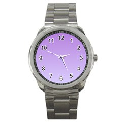 Lavender To Pale Lavender Gradient Sport Metal Watch