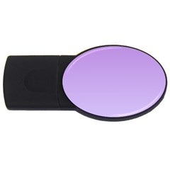 Lavender To Pale Lavender Gradient 4gb Usb Flash Drive (oval)