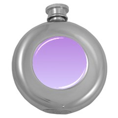 Lavender To Pale Lavender Gradient Hip Flask (Round)