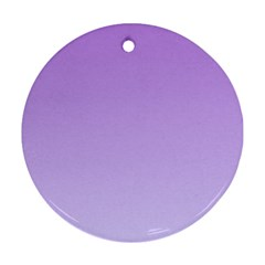 Lavender To Pale Lavender Gradient Round Ornament (Two Sides)