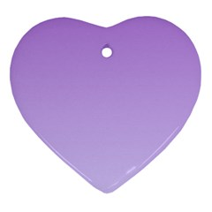 Lavender To Pale Lavender Gradient Heart Ornament (Two Sides)