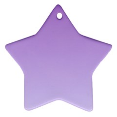 Lavender To Pale Lavender Gradient Star Ornament (two Sides)
