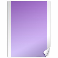 Lavender To Pale Lavender Gradient Canvas 18  X 24  (unframed)
