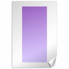 Lavender To Pale Lavender Gradient Canvas 24  x 36  (Unframed)