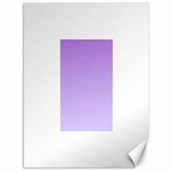 Lavender To Pale Lavender Gradient Canvas 36  x 48  (Unframed)