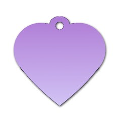 Lavender To Pale Lavender Gradient Dog Tag Heart (Two Sided)