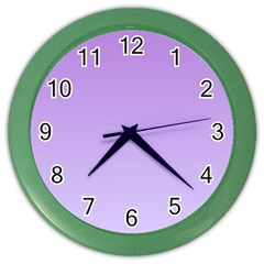 Lavender To Pale Lavender Gradient Wall Clock (Color)