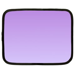 Lavender To Pale Lavender Gradient Netbook Case (Large)
