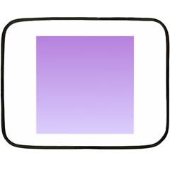 Lavender To Pale Lavender Gradient Mini Fleece Blanket (Two-sided)
