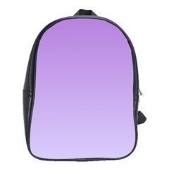 Lavender To Pale Lavender Gradient School Bag (Large)