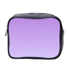 Lavender To Pale Lavender Gradient Mini Travel Toiletry Bag (two Sides)