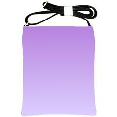 Lavender To Pale Lavender Gradient Shoulder Sling Bag