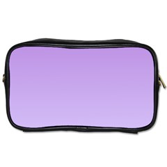 Lavender To Pale Lavender Gradient Travel Toiletry Bag (Two Sides)