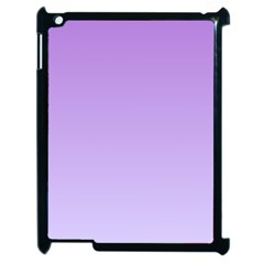 Lavender To Pale Lavender Gradient Apple Ipad 2 Case (black)