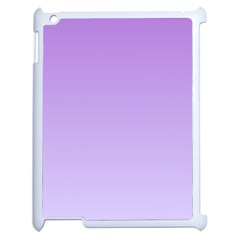 Lavender To Pale Lavender Gradient Apple iPad 2 Case (White)