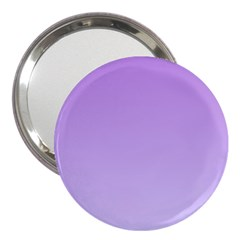Lavender To Pale Lavender Gradient 3  Handbag Mirror