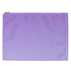 Lavender To Pale Lavender Gradient Cosmetic Bag (XXL)