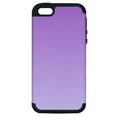 Lavender To Pale Lavender Gradient Apple Iphone 5 Hardshell Case (pc+silicone)
