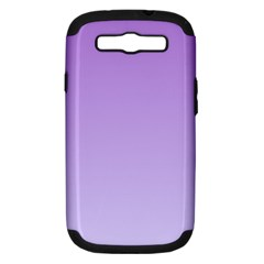 Lavender To Pale Lavender Gradient Samsung Galaxy S III Hardshell Case (PC+Silicone)