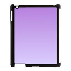 Lavender To Pale Lavender Gradient Apple Ipad 3/4 Case (black)