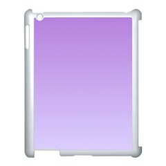 Lavender To Pale Lavender Gradient Apple iPad 3/4 Case (White)