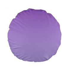 Lavender To Pale Lavender Gradient 15  Premium Round Cushion
