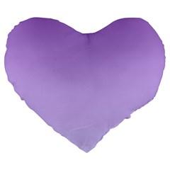 Lavender To Pale Lavender Gradient 19  Premium Heart Shape Cushion