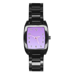 Lavender To Pale Lavender Gradient Men s Stainless Steel Barrel Analog Watch