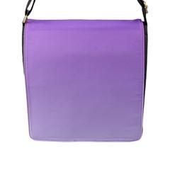 Lavender To Pale Lavender Gradient Flap Closure Messenger Bag (Large)