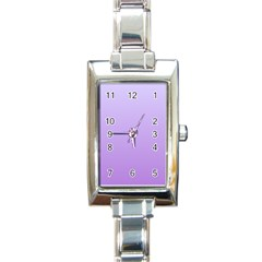 Pale Lavender To Lavender Gradient Rectangular Italian Charm Watch