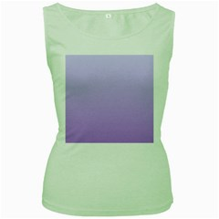 Pale Lavender To Lavender Gradient Womens  Tank Top (Green)