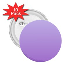 Pale Lavender To Lavender Gradient 2.25  Button (10 pack)