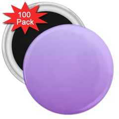 Pale Lavender To Lavender Gradient 3  Button Magnet (100 Pack)