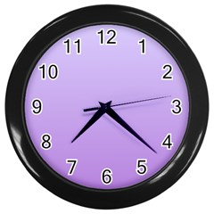 Pale Lavender To Lavender Gradient Wall Clock (Black)