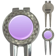 Pale Lavender To Lavender Gradient Golf Pitchfork & Ball Marker