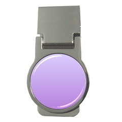 Pale Lavender To Lavender Gradient Money Clip (round)