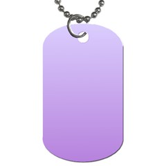 Pale Lavender To Lavender Gradient Dog Tag (two Sided)
