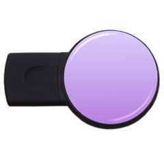Pale Lavender To Lavender Gradient 2gb Usb Flash Drive (round)
