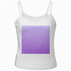 Pale Lavender To Lavender Gradient White Spaghetti Top