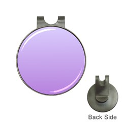 Pale Lavender To Lavender Gradient Hat Clip with Golf Ball Marker