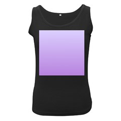 Pale Lavender To Lavender Gradient Womens  Tank Top (Black)