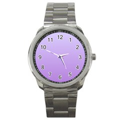Pale Lavender To Lavender Gradient Sport Metal Watch