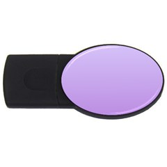 Pale Lavender To Lavender Gradient 4GB USB Flash Drive (Oval)