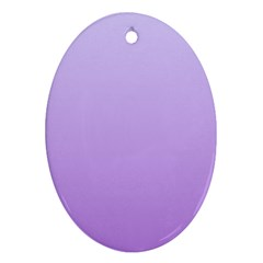 Pale Lavender To Lavender Gradient Oval Ornament (two Sides)