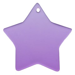 Pale Lavender To Lavender Gradient Star Ornament (two Sides)