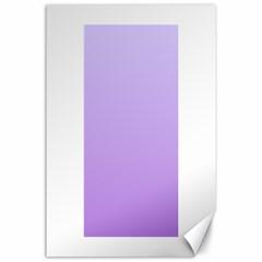 Pale Lavender To Lavender Gradient Canvas 24  x 36  (Unframed)