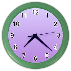 Pale Lavender To Lavender Gradient Wall Clock (color)