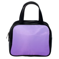 Pale Lavender To Lavender Gradient Classic Handbag (one Side)
